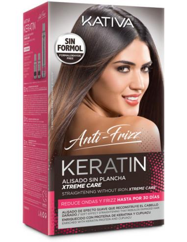 Keratin Anti Frizz Xtreme Care alisado sin plancha Kativa